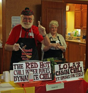 1st place WINNERS of the 2015 Great Kemble Chili Cook-Off